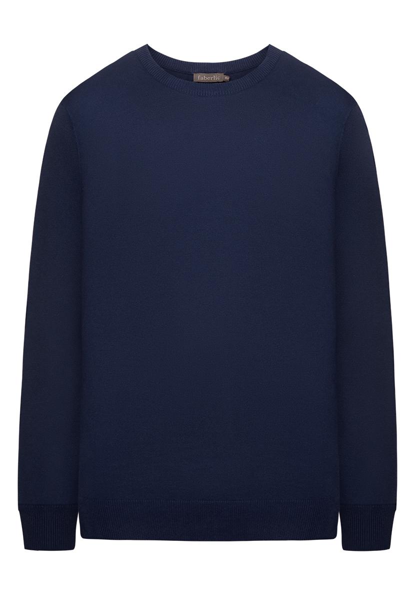 Купить со скидкой Вязаный джемпер для мужчины, цвет темно-синий