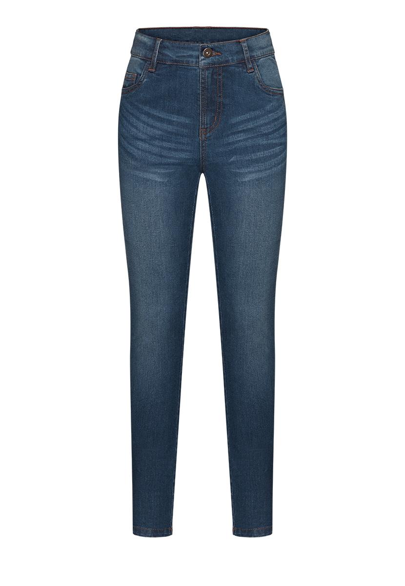 Купить со скидкой Брюки из джинсовой ткани для девочки, цвет синий