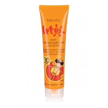 Крем солнцезащитный для детей SPF 30 серии LETO