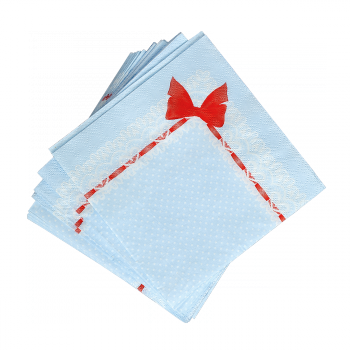 Набор бумажных салфеток Снегири 20 шт