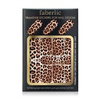 Переводные наклейки для дизайна ногтей  Transfer stickers for nail design Леопард