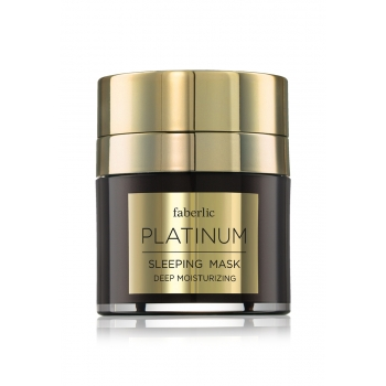 Ночная маска для лица серии Platinum Sleeping mask Deep moisturizer Platinum