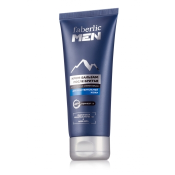 Soothing aftershave cream balm for sensitive skin