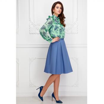 Фаберлик платье с шифоновой кокеткой и рукавами цвет ментоловый отзывы