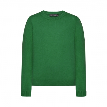 Knitted jumper for boy bright green