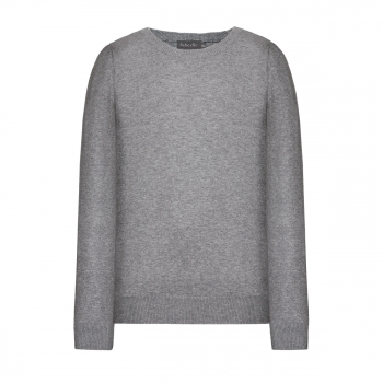 Knitted jumper for boy light grey melange