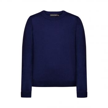 Knitted jumper for boy dark blue