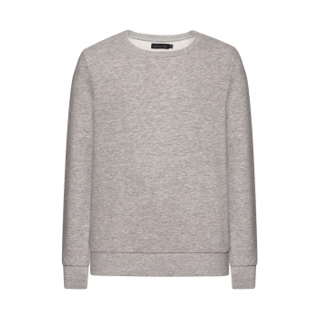 Jersey pullover for boy grey melange