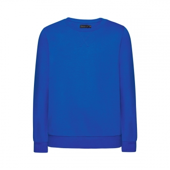 Knitted pullover for boy bright blue
