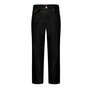 Denim trousers for boy black