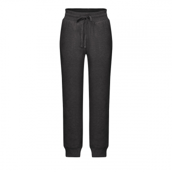 Jersey trousers for boy dark grey melange