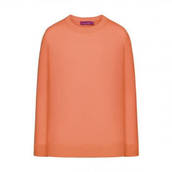 Knitted jumper for girl coral