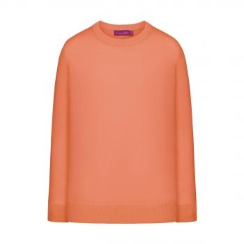 Трикотажный джемпер для девочки цвет коралловый