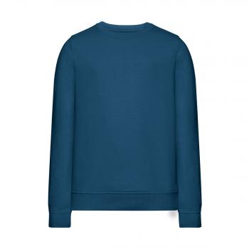 Трикотажный пуловер для девочки цвет темнобирюзовый