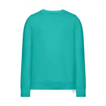 Трикотажный пуловер для девочки цвет ментоловый