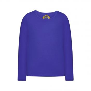 Girls Long Sleeve Tshirt bright blue