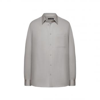 117M2601 Krekls vīrietim gaiši pelēkā krāsā ar garām piedurknēm