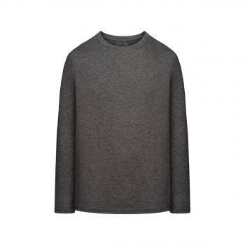 Mens LongSleeve Jersey Tshirt dark grey melange
