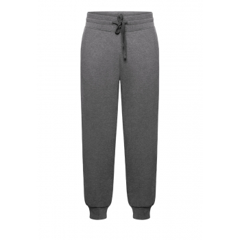 Mens Jersey Trousers dark grey melange