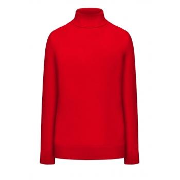 High neck knit jumper