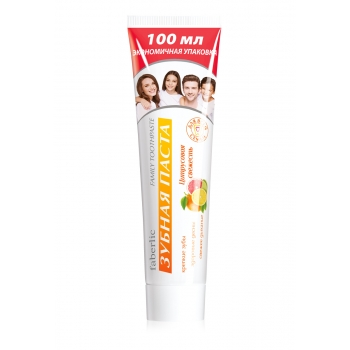 Зубная паста Ежедневный уход для всей семьи Цитрусовая свежесть серии faberlic