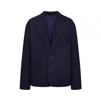 Jersey blazer jacket for boy dark blue