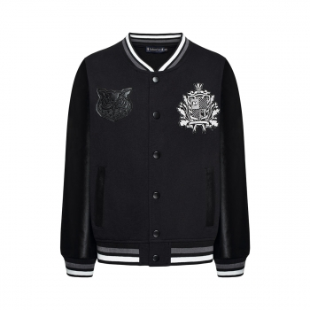 Jersey bomber for boy black