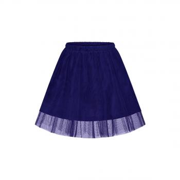 Многослойная юбка для девочки цвет темносиний