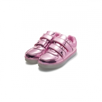 LEDequipped trainers for girl pink