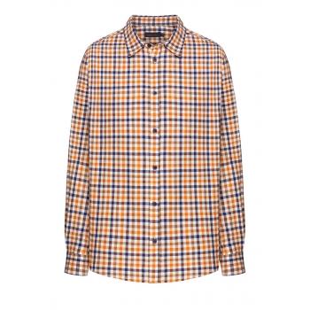 Рубашка с длинным рукавом для мужчины цвет ореховый