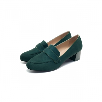 Womens Olivia block heel loafers emerald