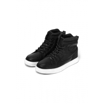 Boys high top sneakers black