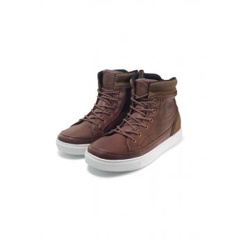 Boys high top sneakers brown