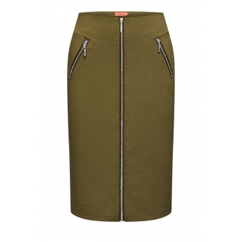 Jersey skirt khaki
