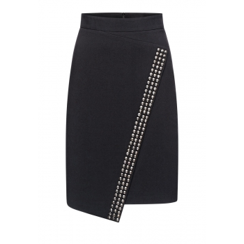 Metallic trim skirt black