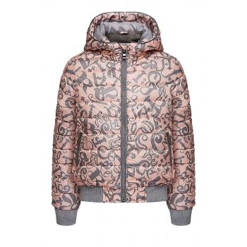 Girls insulated print jacket light pink