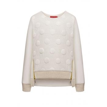 Girls textured sweatshirt milk