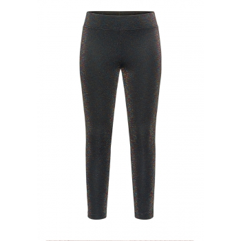 Girls lurex jersey leggings black