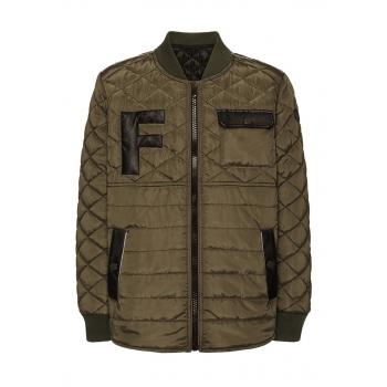 Boys insulated jacket khaki