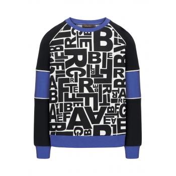 Boys printed sweatshirt black