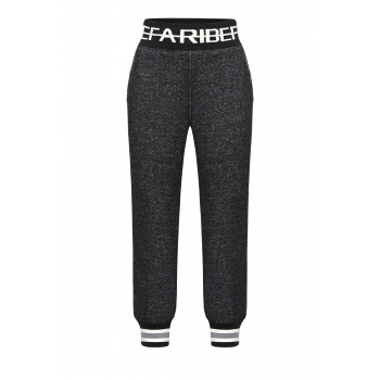Boys jersey trousers dark grey melange