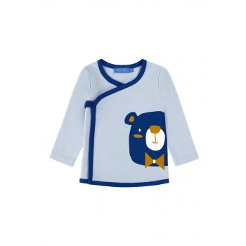 Трикотажная футболкакимоно для мальчика цвет светлоголубой