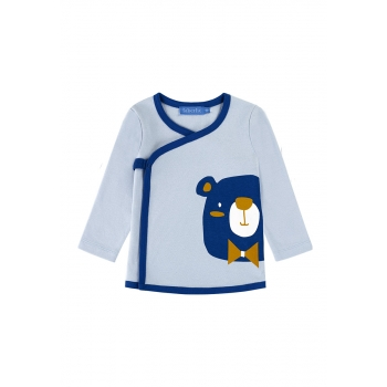 Baby Boy jersey kimono shirt light blue