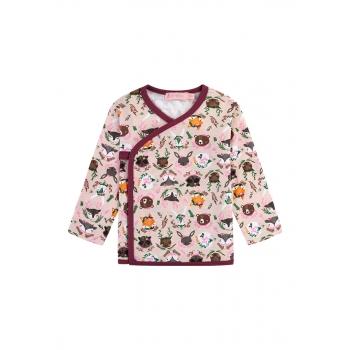 Трикотажная футболкакимоно для девочки цвет розовый