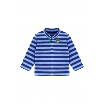 Baby Boy fleece sweatshirt with embroidery and jersey lining dark blue