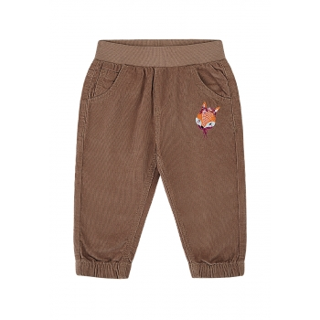 Baby Girl embroidered corduroy trousers amber