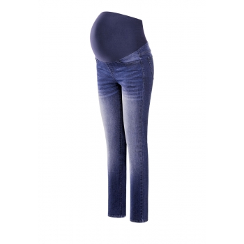 Womens denim maternity trousers indigo