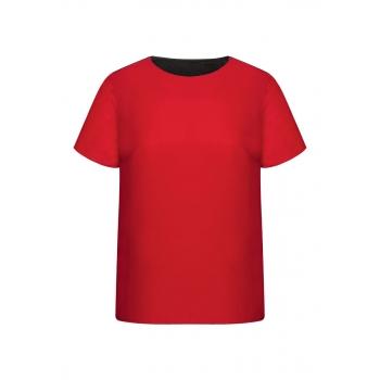 Блузка с коротким рукавом для женщины цвет алый