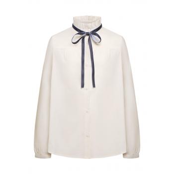 Блузка с декоративным бантом для девочки цвет белый