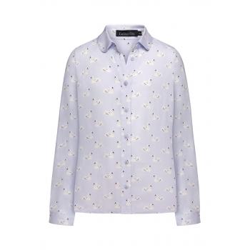 Блузка с набивным рисунком для девочки цвет сероголубой